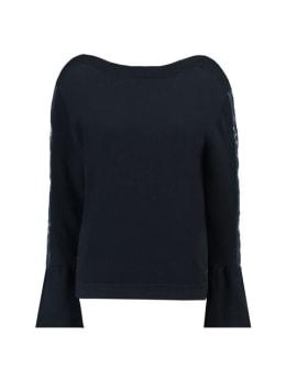 garcia t-shirt met borduurwerk h90242 donkerblauw