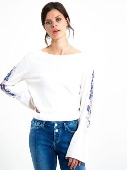 garcia long sleeve met borduurwerk h90242 wit