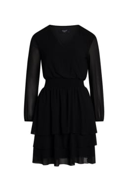 sisterspoint jurk met v-hals nicoline zwart