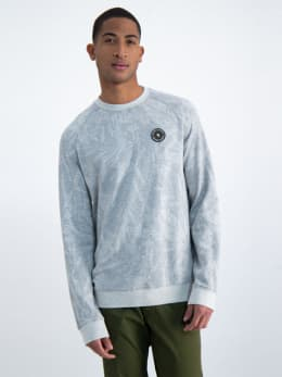 garcia sweater met allover print n01262 grijs