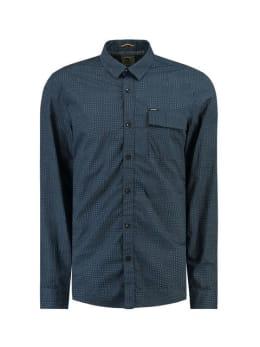 garcia overhemd met allover print j91229 blauw
