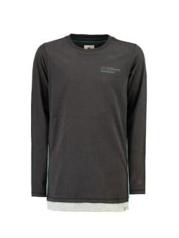 garcia shirt met lange mouw h93605 zwart