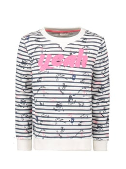garcia sweater met strepen n04461 wit