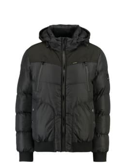 garcia puffer jas gj910906 zwart