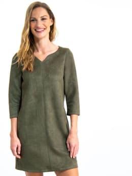 garcia suedine jurk gs900780 groen