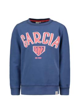 garcia sweater met opdruk gs050101 blauw