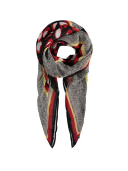 garcia sjaal met print g90130 zwart