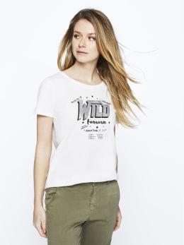 garcia t-shirt met opdruk pg000101 wit