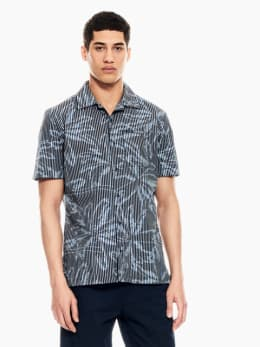 garcia overhemd met print donkerblauw q01035