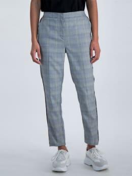 garcia geruite broek m00113 grijs