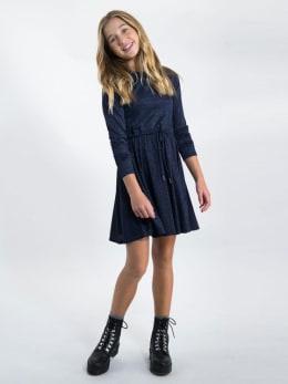 garcia jurk met glitters j92681 blauw