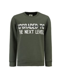 garcia sweater met tekst j93660 groen