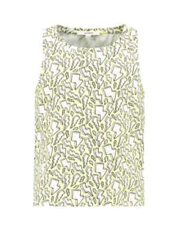 garcia t-shirt met print e92402 limegroen