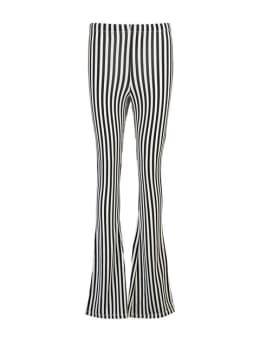 cars zuma flared broek gestreept zwart-wit