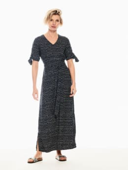 garcia maxi-jurk met allover print donkerblauw q00087
