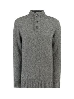 garcia trui met opstaande kraag i91048 grijs