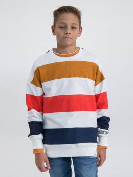 garcia sweater met strepen m03464 wit