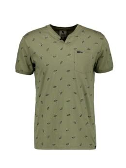 garcia t-shirt met allover print donkergroen pg010312