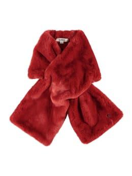 garcia fake fur sjaal i90131 rood