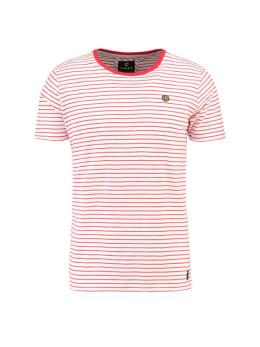 Chief T-shirt Korte Mouwen PC910401 Rood Gestreept