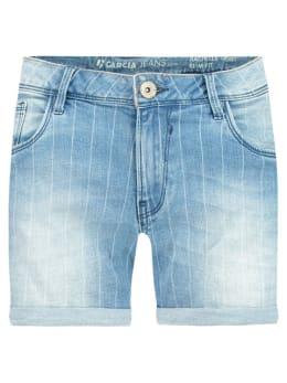 Garcia short vintage strip D90340 blauw