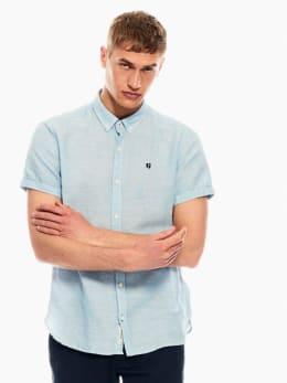garcia linnen overhemd lichtblauw p01240