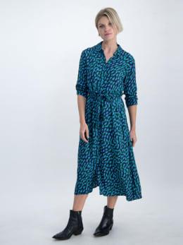 garcia blousejurk met allover print o00085 donkerblauw