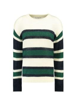 garcia trui met strepen j90245 groen