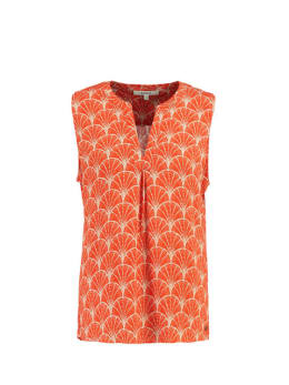 garcia top met allover print ge900501 oranje