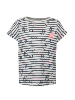 garcia t-shirt gestreept n04403 wit