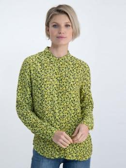 garcia blouse met bloemendessin m00032 geel