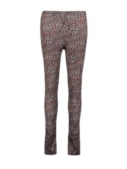 sisterspoint legging met allover panterprint grijs