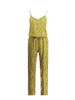 garcia jumpsuit met print e90086 geel