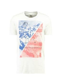 garcia t-shirt met print g91003 wit