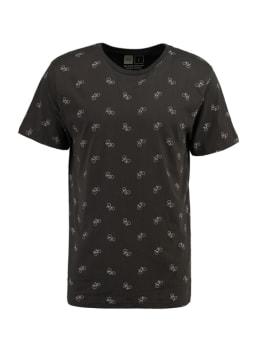 dedicated t-shirt met allover print grijs