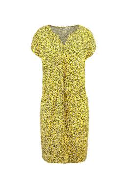 garcia jurk met taillekoord e90089 geel