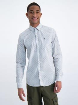 garcia overhemd met allover print n01231 wit