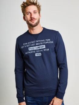 pilot sweater met opdruk pp810903 blauw