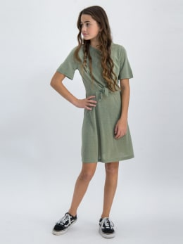 garcia jurk met korte mouwen o02484 groen