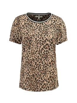 garcia t-shirt met allover print ge900702 zwart