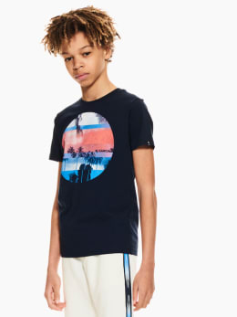 garcia t-shirt donkerblauw p03600