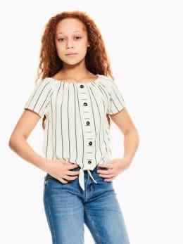 garcia off-shoulder t-shirt gestreept wit q02402