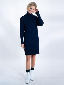 garcia jurk met col j90288 blauw