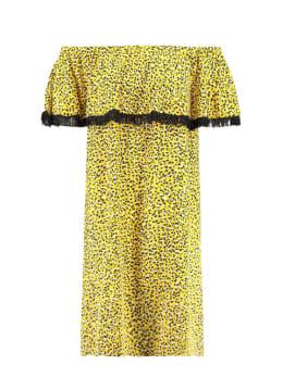 garcia jurk mouwloos e90081 geel