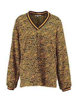 tripper blouse met allover print tr900901 geel