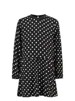 garcia jurk met stippen g92482 zwart