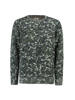 garcia sweater met allover print J93669 groen