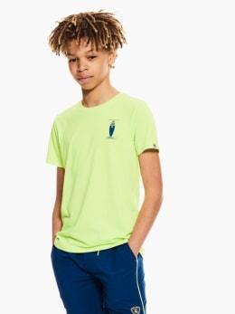 garcia t-shirt met borstprint geel q03408