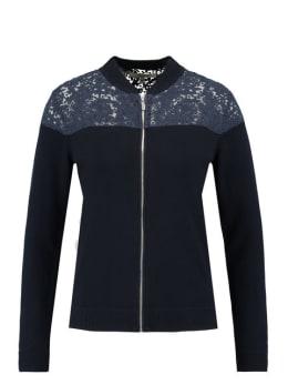 garcia vest met rits gs900251 blauw