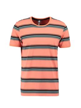 chief t-shirt gestreept roze pc010407